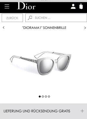 Dior Diarama 1 Sonnenbrille, silber,