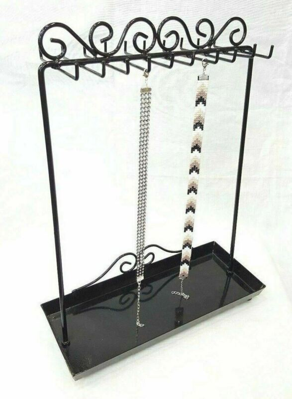 Countertop Metal Necklace Display Stand, Jewelry Organizer Display - 20 Hooks