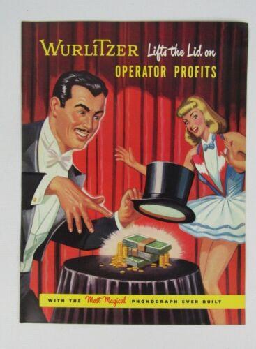 Original Wurlitzer Jukebox Model 1400 1450 Advertising Flyer