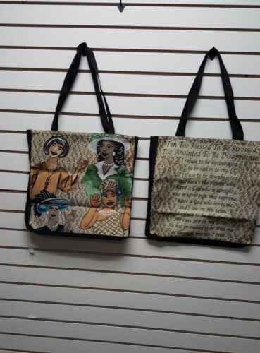 Too Blessed To Be Stressed Tapestry Tote Bag Purse/African American