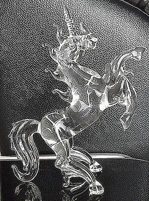 UNICORN FIGURINE CRYSTAL GLASS MYTHICAL FANTASY UNICORN HORSE ORNAMENT HORNED