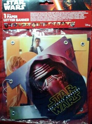 Star Wars Episode VII Force Awakens Kinder Geburtstag Party Girlande Banner TOP! ()