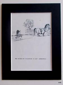 Norman Thelwell Funny Original Vintage Cartoon Mounted Print 1965  - 110