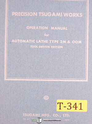 Tsugami 2m And 00m Tool Design Edition Operations Manual
