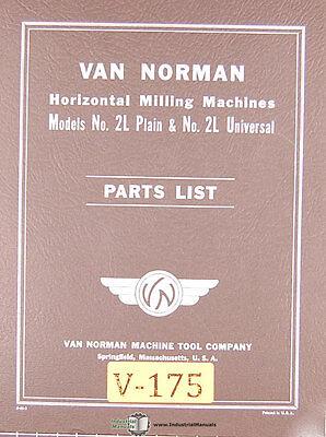 Van Norman 2l Milling 2l Milling Replacement Parts Manual