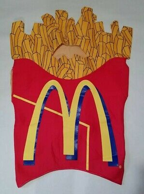 French Man Halloween Costume (Vintage 1997 McDonalds French Fry Halloween Costume Size Large Made In)