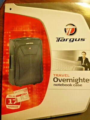 Targus Rolling Overnight / Notebook Case for 17-Inch Laptop Rolling Notebook Overnighter Case