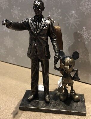 "Walt Disney and Mickey Mouse ""Partners"" Ornament Statue Figurine Disney Parks"