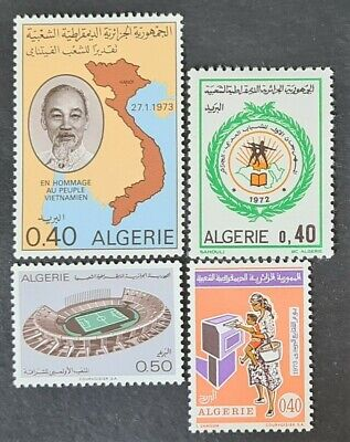STAMPS ALGERIA 1973 VARIOUS MINT HINGED - #6421