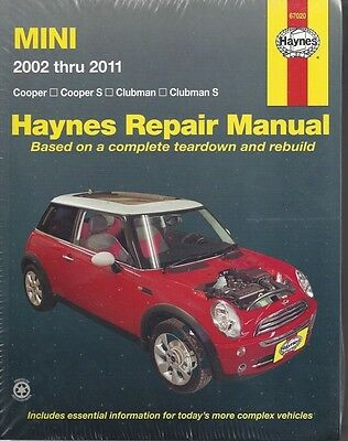 Repair Manual Haynes 67020 Fits Mini Coope Cooper S Clubman   Clubman S 02 11