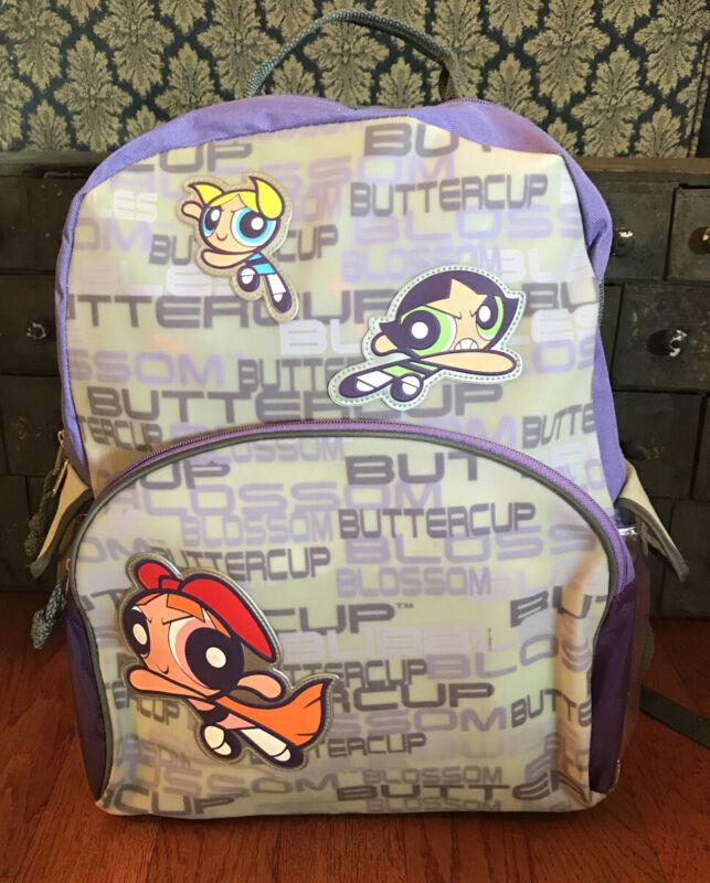 Vintage 2002 Cartoon Network Powerpuff Girls Backpack Bubbles Blossom Buttercup