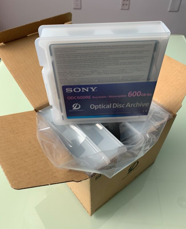 Sony 600GB Rewritable Optical Disc Cartridge (x5 units)  / BRAND NEW / ODC600RE