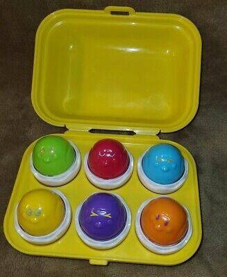 TOMY Toomies Hide & Squeak Eggs Matching & Sorting Learning Toys Kids Egg T13