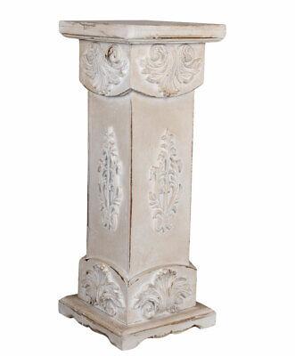 Columna de Flores Podest Shabby Chic Pedestal Madera Blanco Decoración Jardín