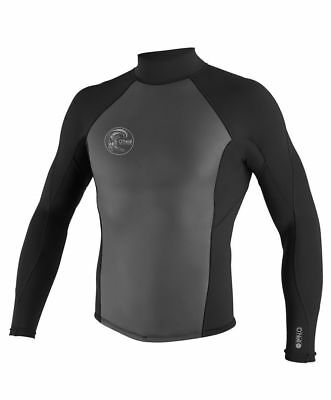 NEW O'NEILL O'RIGINAL 2/1 BACK ZIP WETSUIT JACKET XL Black