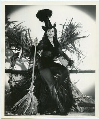 Halloween Witches Movie (Ann Miller 1940s Original Halloween Leggy Pin-Up Witch Photograph Ed)