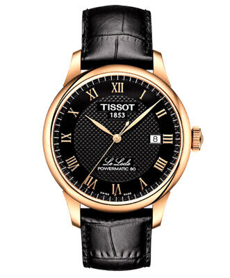 New Tissot T-Classic Automatic Black Dial Rose Gold Mens Watch T0064073605300 Dial Automatic Leather Watch