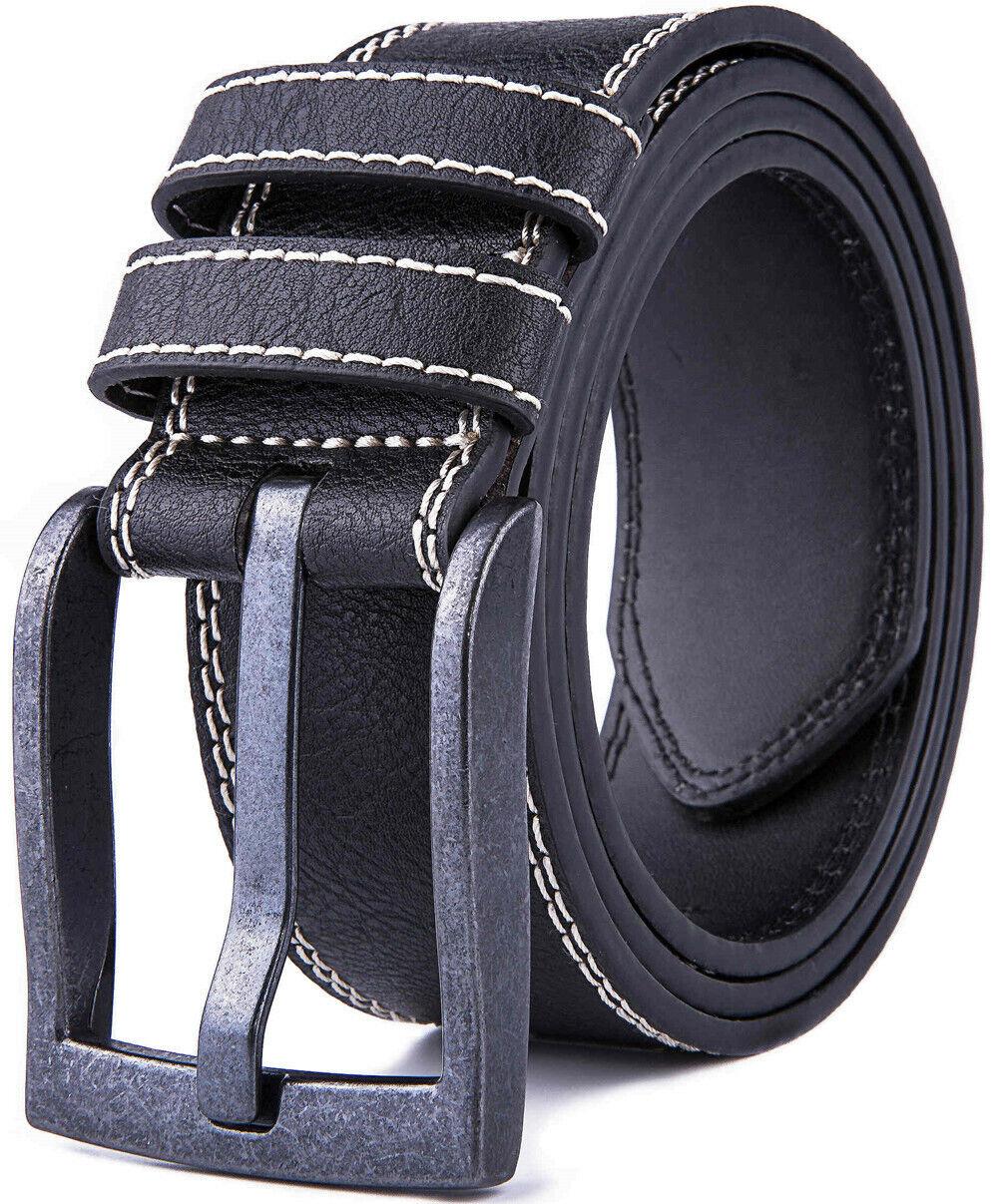 Men's Belts Casual Leather Jeans Belts 1.65″ Wide Belts