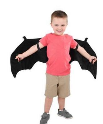 PLUSH BAT WINGS Kids Halloween Costume Accessory Batman Vampire Wings Unisex
