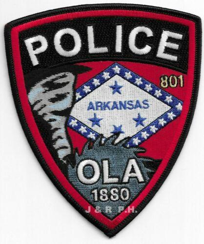 "Ola, Arkansas  ""1880""  (4.25"" x 5"" size) shoulder police patch (fire)"