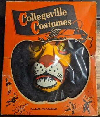 Rare Vintage Lion Collegeville Halloween Costume King Leo COMPLETE wizard of oz