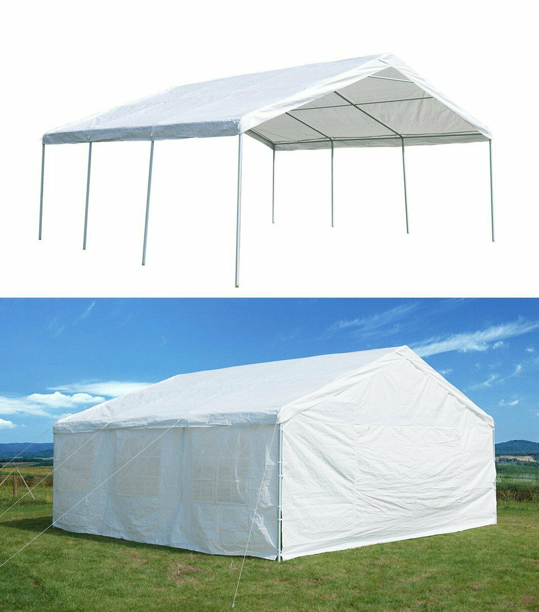 Canopy Tent 20x20 Carport Heavy Duty Outdoor Wedding Canopy
