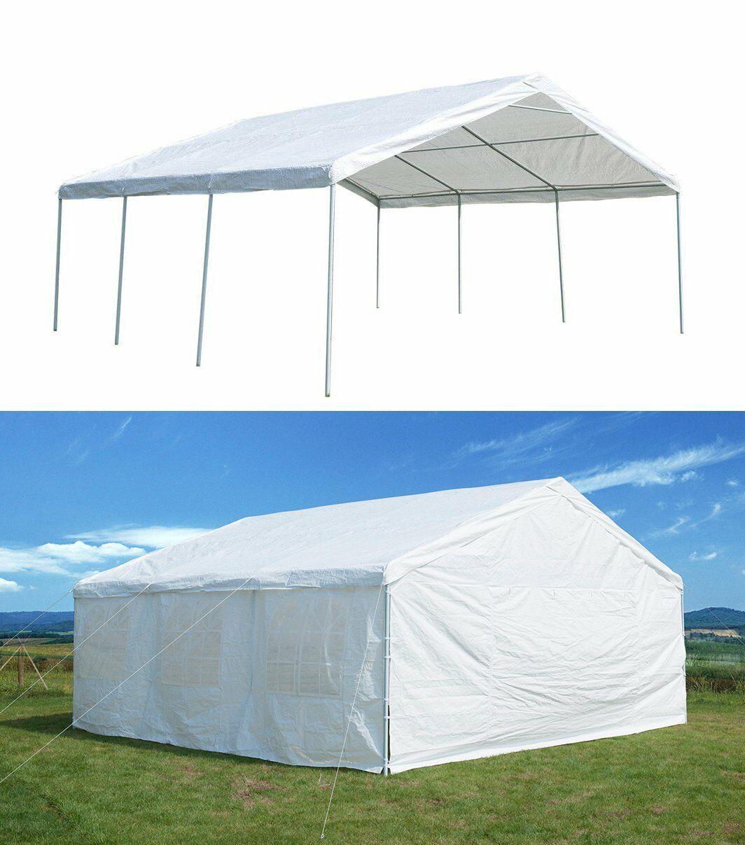 Outdoor Carport 20'x20' Party Tent Canopy Event Wedding Tent