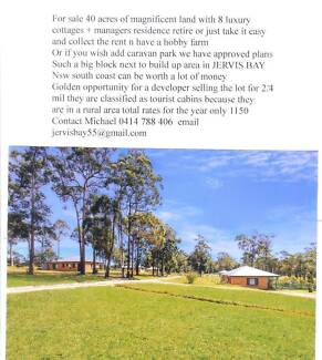 9 houses on 40 acres with approved plans 4 caravan park if u wish Shoalhaven Area Preview