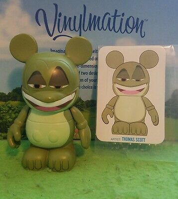"DISNEY Vinylmation Park  3"" Set 1 Animation Prince Naveen Frog with Card"