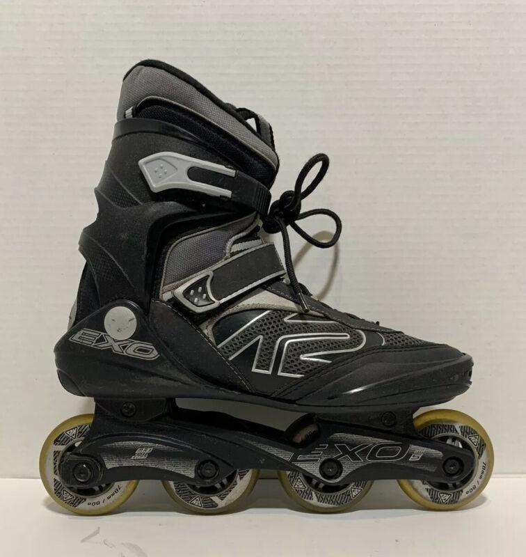 K2 Exo Abec 5 Inline Skates Silver Black Mens Sz10 Max Wheel 80mm