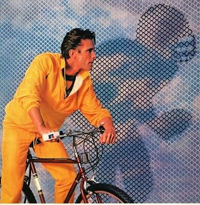 Russell Track Suit 80s Fashion Football Image Bicycle 1985 Vintage Print Ad