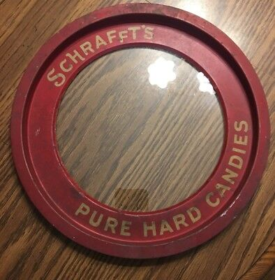 "VINTAGE/ANTIQUE ""SCHRAFFT'S PURE HARD CANDY"" SERVING/SAMPLE TRAY !"