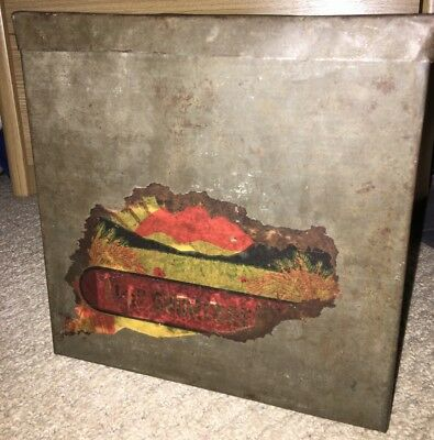 1920's 1930's Food Storage Tin Wartime Display Prop Cafe Decor Vintage Flour