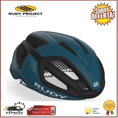 Rudy Project Casco SPECTRUM Ciclismo Bici Pacific Blue Black M 55-59cm Corsa...
