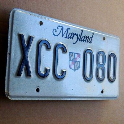 MARYLAND Altes Nummernschild ORIGINAL 70er TOPZUSTAND USA License Plate XCC 080