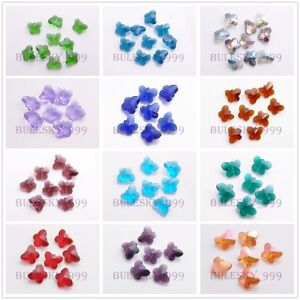 50pcs-Charms-Faceted-Glass-Crytal-Butterfly-Spacer-Finding-Beads-14mm-23-Color