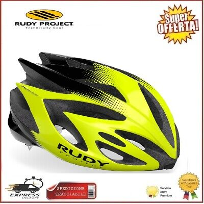 Rudy Project Casco RUSH Ciclismo Bici Yellow Fluo Black S 51-55cm Corsa...