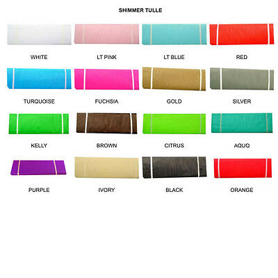 GLIMMER / SHIMMER Tulle Fabric Spool 6