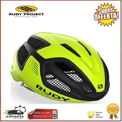 Rudy Project Casco Spectrum Ciclismo Bici Yellow Fluo Black M 55-59cm Corsa...