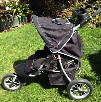 Stroller - 3 wheel v/g condition
