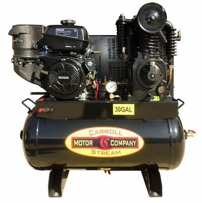 Gas Air Compressor Truck Mount Industrial Commercial Kohler Ch440 Elec-start