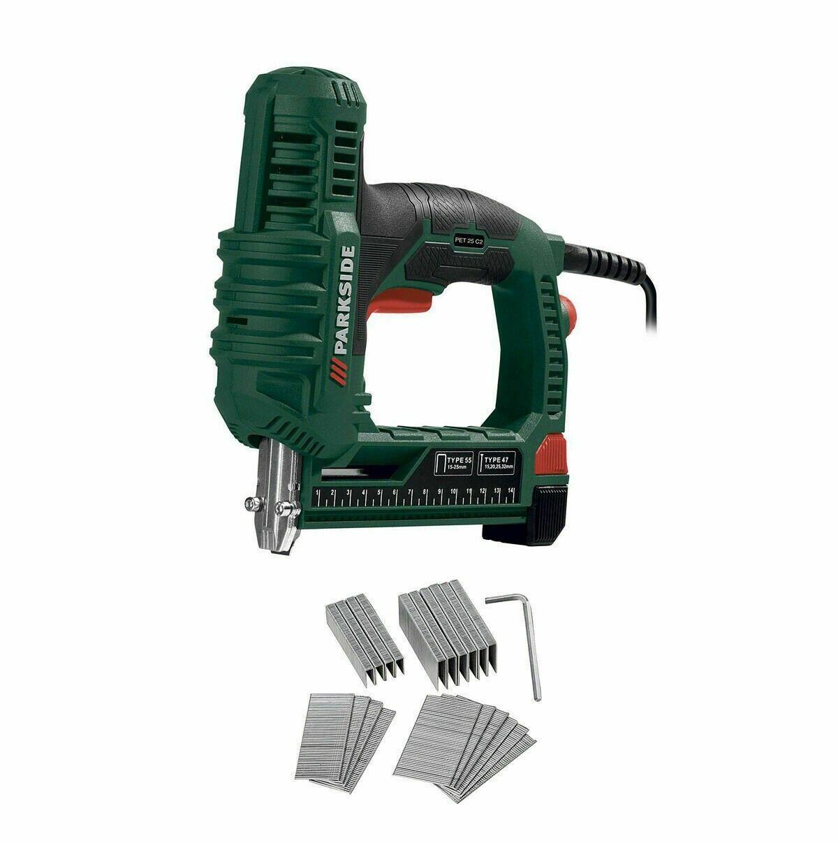 PARKSIDE® Elektrotacker PET 25 C3 Werkzeug Tacker Elektr. Hefter Klammer Gerät