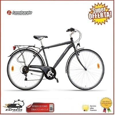 Lombardo City Bike 28 Siena 100 Uomo 6V Bicicletta Bici Passeggio Trekking