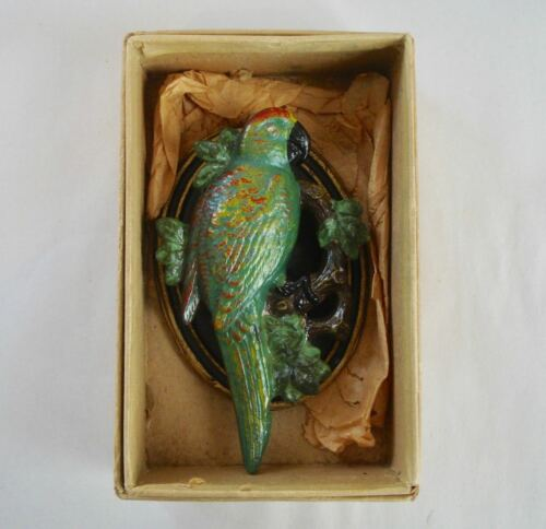 Vintage Cast Iron ~ Parrot  Door Knocker ~ MINT IN BOX !!