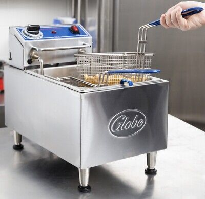 Commercial Deep Fryer Globe Pf10e 10lb Eletetric Counter Top