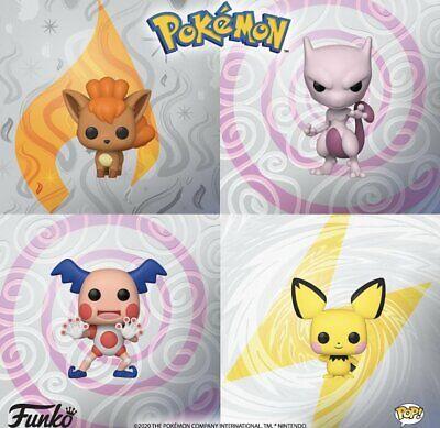 Funko POP! Pokémon: Vulpix + Mewtwo + Mr. Mime + Pichu