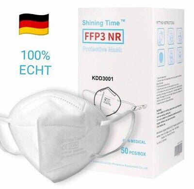 10x FFP3-CE0370-Atemschutzmasken 5 lagig zertifiziert 99% Einzeln verpackt