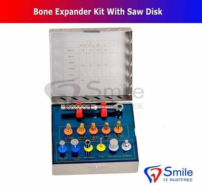 Dental Bone Expander Kit Sinus Lift With Saw Disks Surgical Implant Instruments