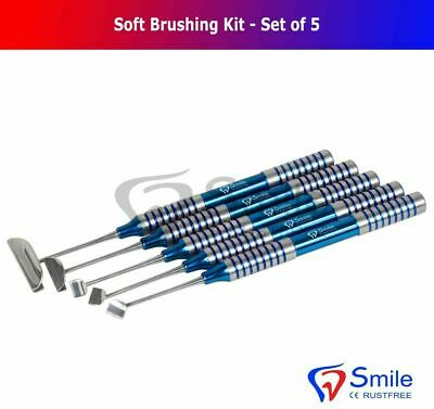Soft Brushing Kit Dental Instruments Implant Lingual Flaps Surgery Set Of 5 New