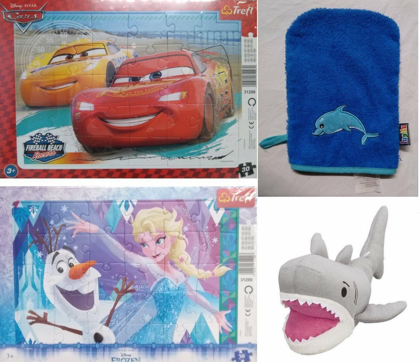 Paket Kleinkinder Baby Waschhandschuh Plüschtier Puzzle Cars & Frozen